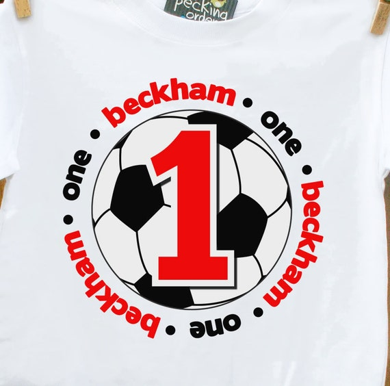 soccer first 1st birthday t-shirt-adorable birthday shirt
