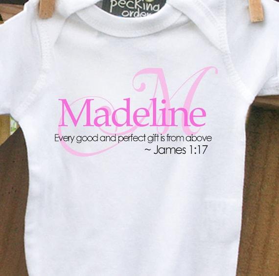 Baby Shower Gift Custom Personalized Monogram Baby By
