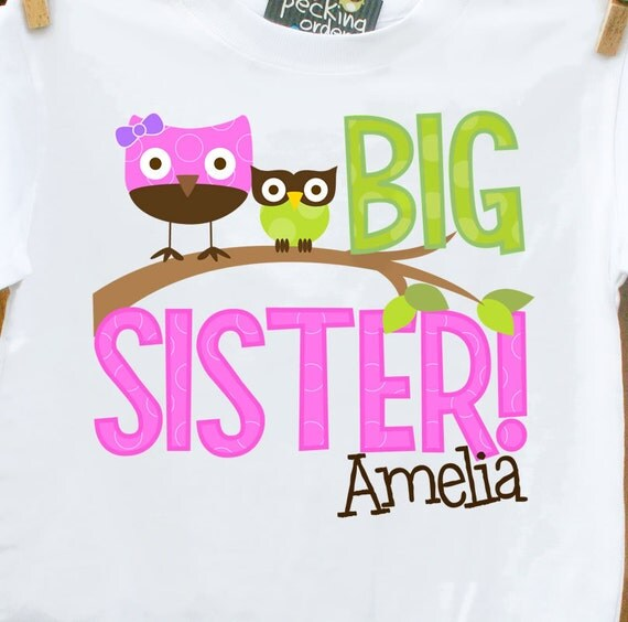 big sister shirt funky owl makes a great big sister to be shirt and gift