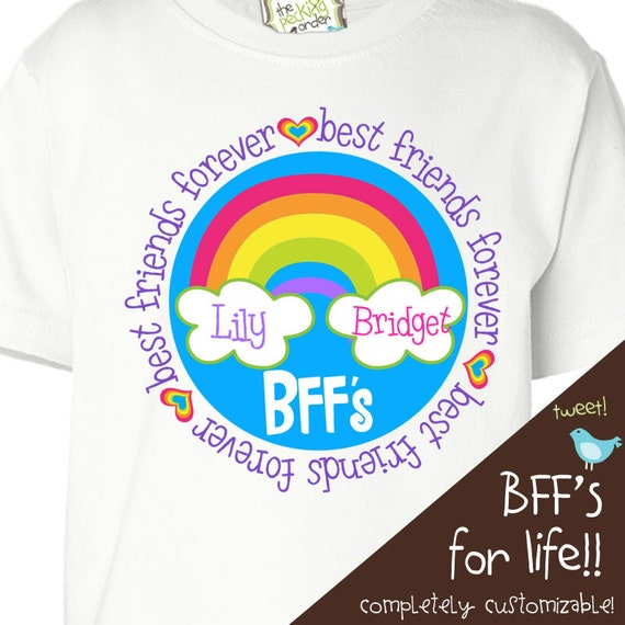 personalized best friends shirt girls BFF shirt - perfect birthday or christmas gift for a special girl