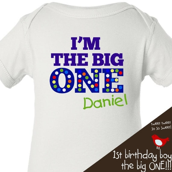 first 1st birthday tshirt - custom and personalized with your colors and name