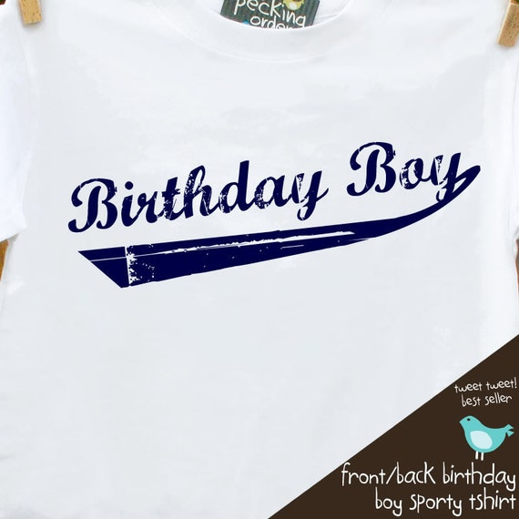 Birthday Boy shirt - perfect for the baseball, sports themed birthday party tshirt style