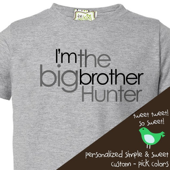 Big Brother shirt- Simple Text I'm the Big brother t-shirt