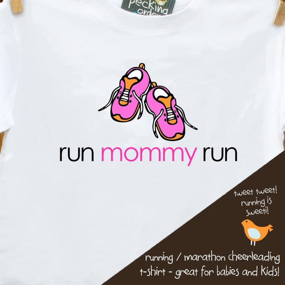 running marathon shirt for kids - cheer mommy and daddy to running (or triathlon) victory