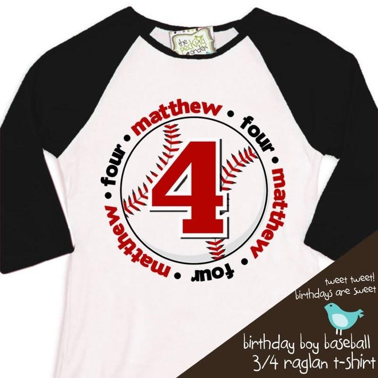 birthday boy t shirt baseball birthday party by zoeysattic ...