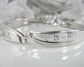 Spoon Bracelet, Spoon Jewelry, Silverware Jewelry, Silverware Bracelet, Vintage Wedding, Shabby Chic - 1959 PETAL LANE
