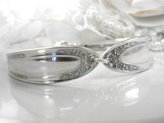 Spoon Bracelet, Spoon Jewelry, Silverware Bracelet, Silverware Jewelry - 1916 BEDFORD aka MODJESKA
