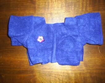 Blue Fleece Jacket fits B a B Navy Blue Coat Jacket that fits H K HandMade Bear Clothes