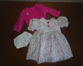 Dress Panties Jacket Doll Clothes fit American Girl Gotz 18 inch HandMade 3 piece Set