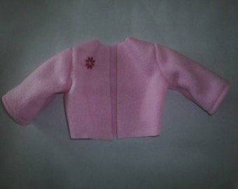 Jacket Coat Pink Fleece fits A G fits Gotz Doll 18 to 20 inch doll Clothes HandMade
