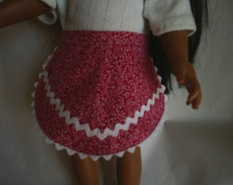2 Aprons that fit Am G Dolls Clothes or Gotz or Cabbage Patch Dolls or any similar doll size