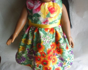 Doll Dress fits 18 inch A G Dolls or Gotz Hand Made Doll Clothes