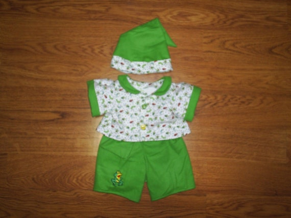Build a Bear Clothes Frog and Bug Pajamas Set 3 piece fits Hello Kitty HandMade Doll Clothes