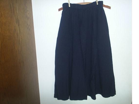 Victorian Crepe Black Skirt