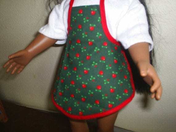 Special Listing for Madonna American Girl Doll Clothes 2 Aprons fit Gotz or Cabbage Patch Dolls or any similar doll size Apples
