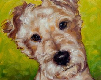 "Beloved Companions, CUSTOM Pet Portrait Oil Painting, 8x8"""