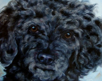 "Golfers Delight, custom Pet Portrait Oil Painting, 8x8"""