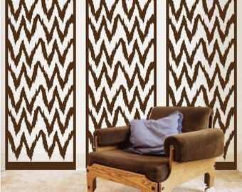 ShaNickers Ikat Panel Wall Decal/ Wall Sticker