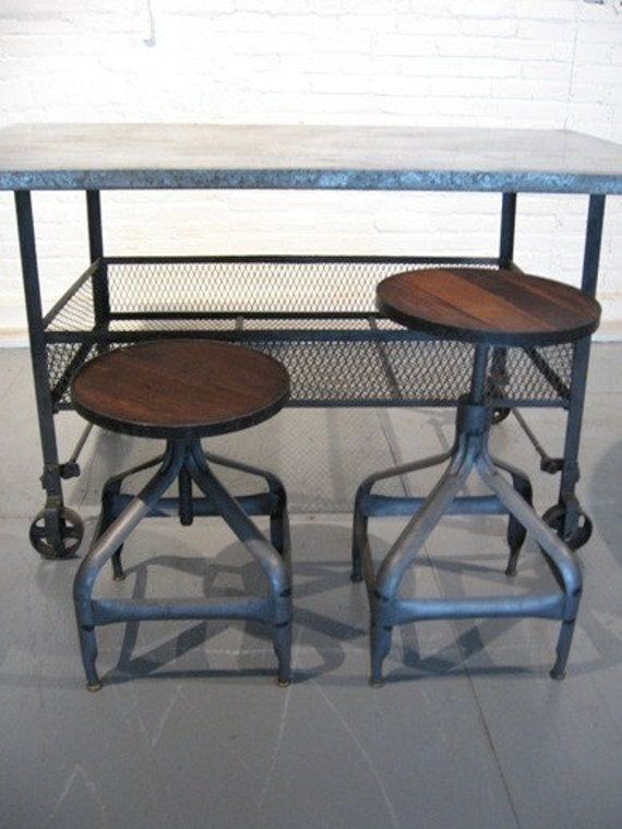 Vintage Industrial Draftsman Stool from ShaNickers