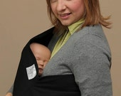 LARGE BLACK Native Baby Pouch Sling