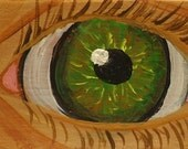 Eye (green lover's eye), original painting