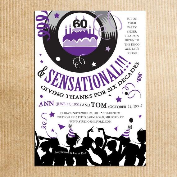 Items similar to 70s party birthday invitations retro for 70 s wedding invitations
