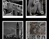 Venice in Black&White Collection 4 Fine Art Photography Prints