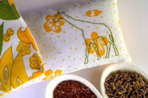 Reserved - Gerald Giraffe Organic Lavender Eye Pillow