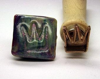 Crown lampwork bead stamp