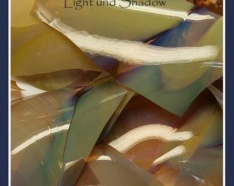 Light and Shadow Shards coe 104  -  .2 oz