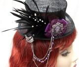 Hat, Mini, Top Hat, Gothic, Fascinator