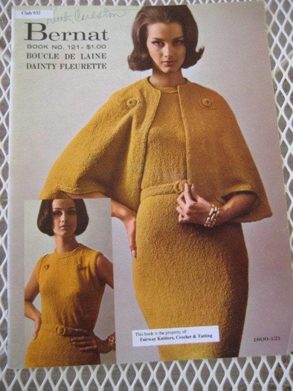 Vintage 1964 Bernat Boucle Knitting Patterns for Women, Book No. 121