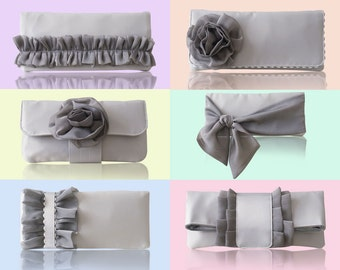 Bridesmaid clutches custom made in your wedding color scheme