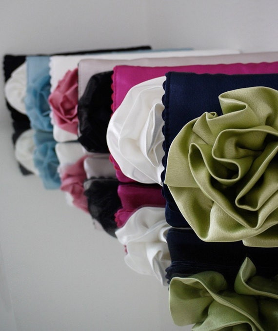 Bridesmaids clutches and gifts custom made in the color scheme of your choice