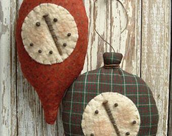 115 - Primitive Snow Bulb Ornament e-Pattern