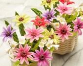 Miniature Polymer Clay Flowers Supplies Chrysanthemum 1 basket
