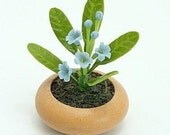 Miniature Polymer Clay Flowers Supplies for Dollhouse and Handmade Gifts Forget-Me-Not