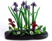 Polymer Clay Flowers Miniature Garden for Dollhouse, delicate and beautiful,