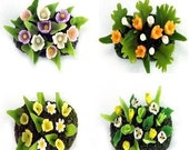 Minigarden, delicate and beautiful, set of 4 pieces