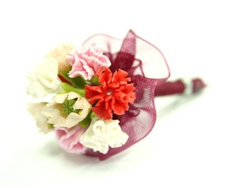 Miniature Flowers Carnation Handmade Polymer Clay Supplies
