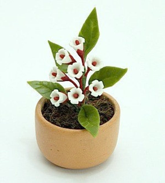 Miniature Polymer Clay Flowers Supplies for Dollhouse and Handmade Gifts Yucca Flowers