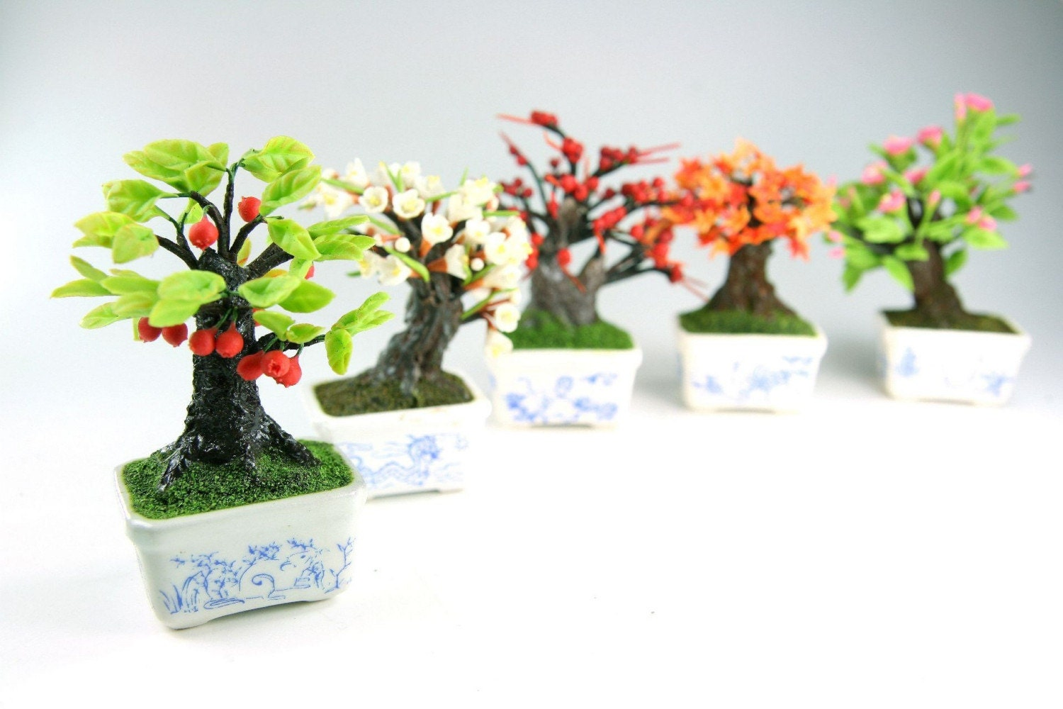 miniature polymer clay bonsai supplies for dollhouse and. Black Bedroom Furniture Sets. Home Design Ideas