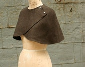 Winter Sale Winter Accessories new Wool Caplet  No. 4 Brown Ready to Ship