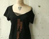artLAB the black text tee shirt
