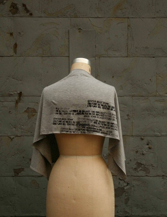 Soft Knit Jersey  Scarf- Gris - Gray - Text  Gone Awry Jersey Unisex Scarf