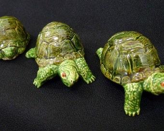 Miniature Turtle Set of 4 - Ceramic Turtles
