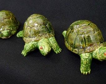 Miniature Turtle Set - Ceramic Turtles