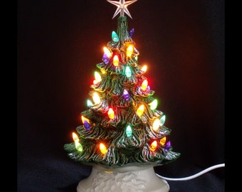 Classic Ceramic Christmas Tree - 11 Inches
