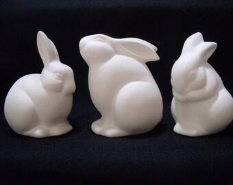 Bisque Bunny Set of 3