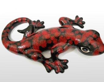 Large Lava Gecko - Wall Hanging - Garden Decor - Home Decor